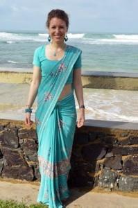 im Saree auf Sri Lanka